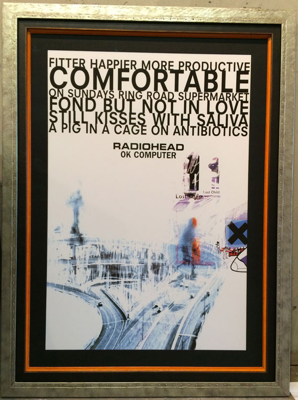 concert poster framing ray street custom framing