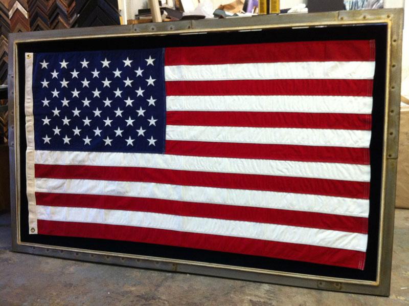 custom framed flag ray street custom framing
