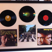Vinyl Records Custom Framing | Ray Street Custom Framing