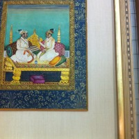 Antique Persian Art Framing | San Diego custom framing