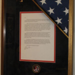 Flag Custom Framing | Ray Street Custom Framing